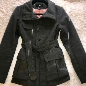 H&M Gray Pea Coats